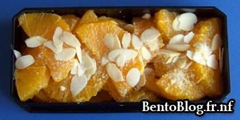 Dessert : salade d'oranges aux amandes effilées