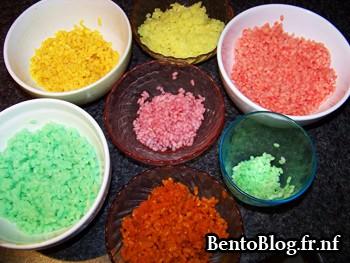 Les différentes teintes de riz