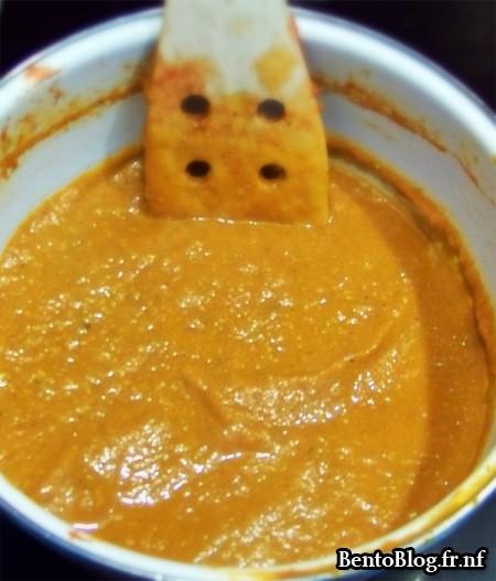 Velouté de tomates et poivron mixé