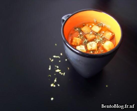 Velouté de tomates et poivron