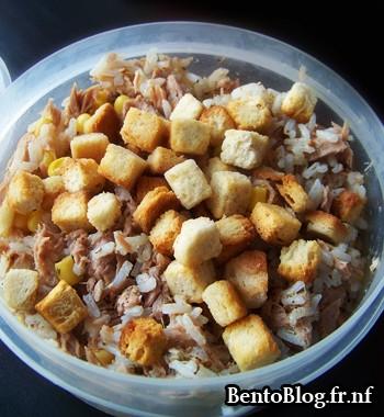 Bento #75 : salade de riz et thon
