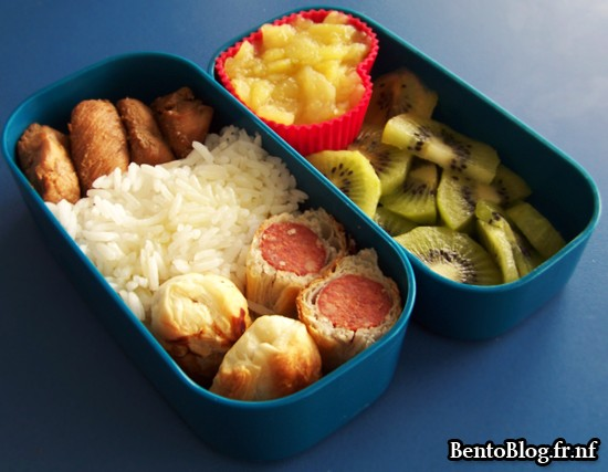 Bento #80 : merguez et poulet teriyaki