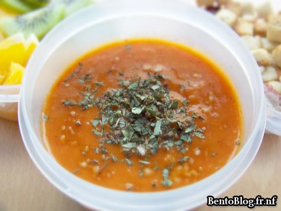 Bento #76 : velouté de tomates et poivron
