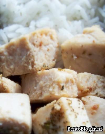 Bento #79 : filet d'espadon cuit et riz