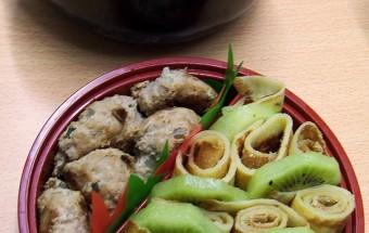 Bento #89 : des pâtes au chorizo et des crêpes dans mon bento rond