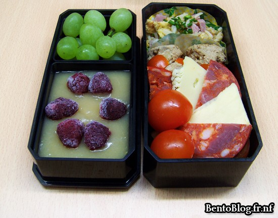 Bento #88 : raclette, chorizo et riz cantonais