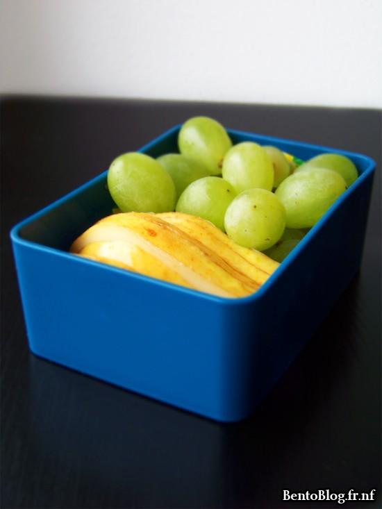 Bento 90 : raisins sans pépins et poire