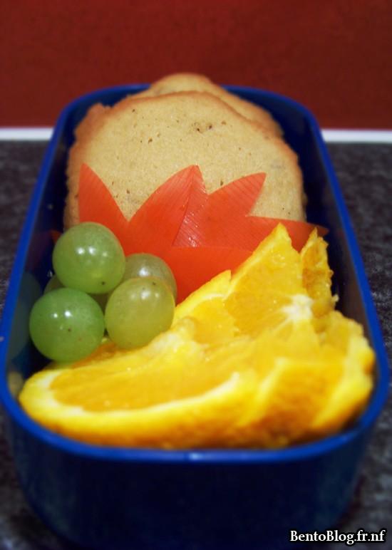 Bento #92 : cookies et fruits