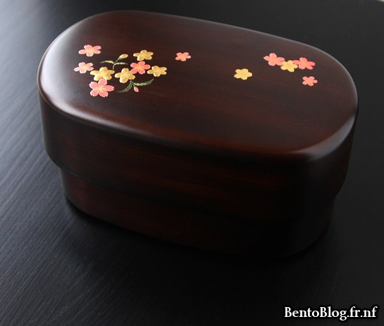 Bento imitation bois fleurs