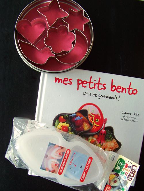 Cadeaux gagnés au concours de bento de Leina