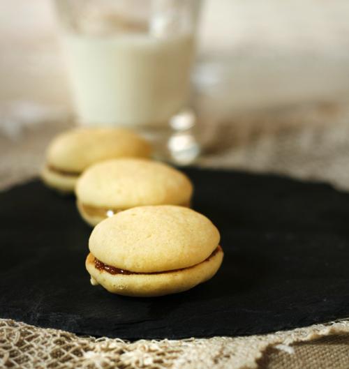 whoopies aux crèmes de calisson et de nougat