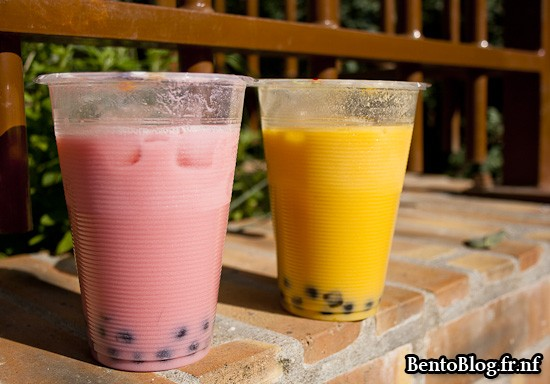 Bubble tea fraise mangue