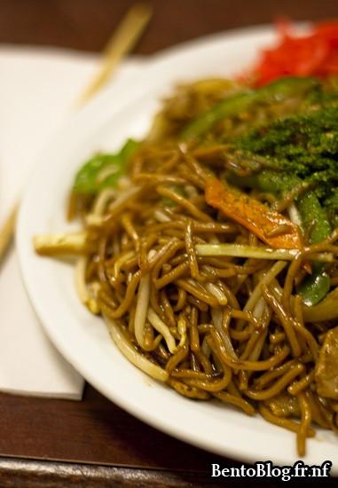 yakisoba porc calamar légumes