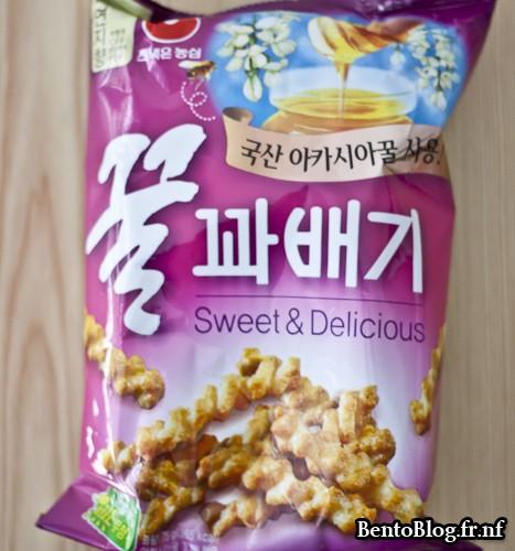 snack sucré coréen au miel
