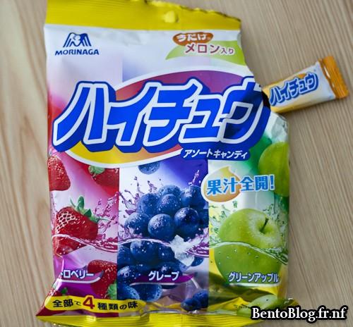 bonbons japonais aux fruits