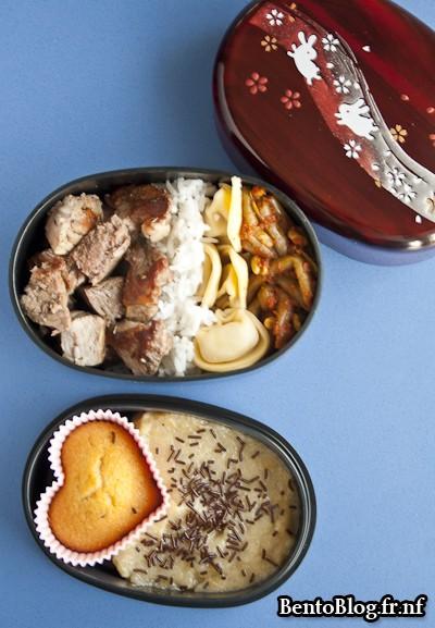 bento muffin aux pépites de chocolat et compote pomme banane gingembre