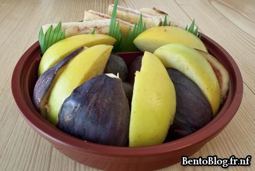 bento nouilles aux légumes rouges