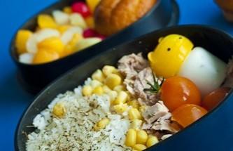 Bento 167 : salade de riz et thon destructurée