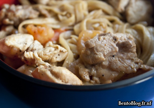 bento 172 : nouilles chinoises et poulet