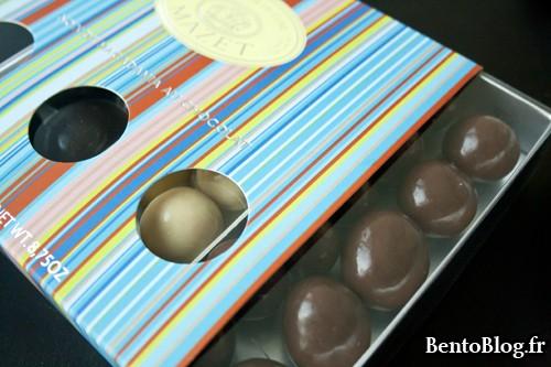 noix de macadamia enrobées de chocolat