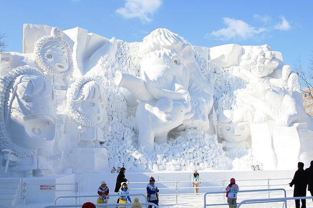sculpture neige age de glace