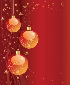 Boules de Noël fond gratuit