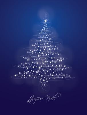 Carte de voeux sapin de Noël