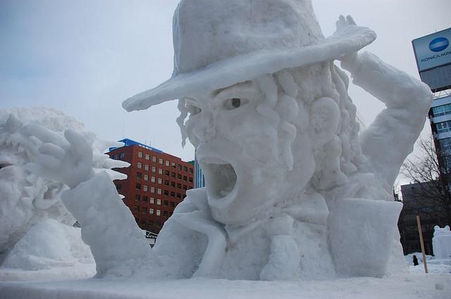 sculpture neige mickael jackson