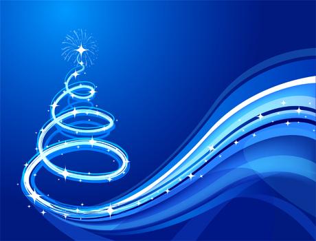 Carte de voeux Noël sapin