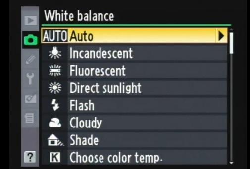 Balance des blancs photographie