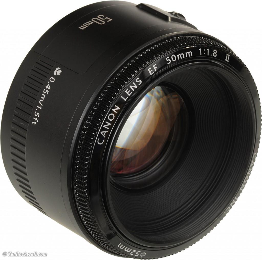 Objectif photo 50 mm f/1.8