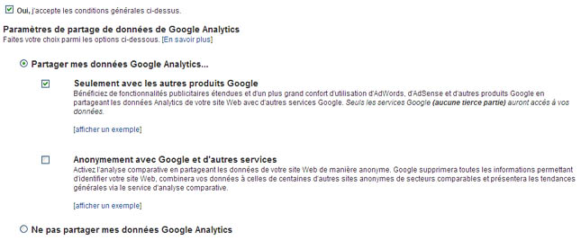 Installer Google Analytics