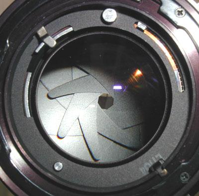 Diaphragme ouverture lentille triangle d'exposition