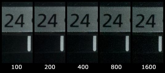 Canon 1000D iso