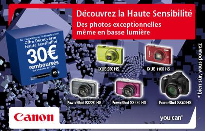 Canon promotion compact numérique Noel