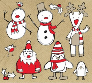 Carte voeux Noël