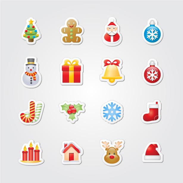 Icones cartes Noel