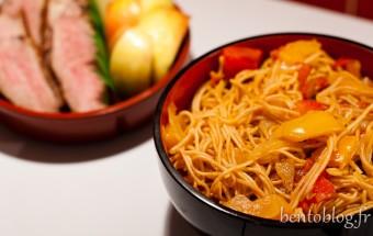 Bento magret de canard et nouilles chinoises