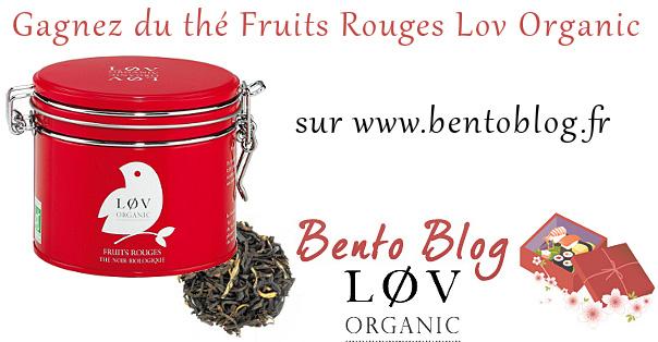 Thé Fruits Rouges Lov Organic à gagner sur Bento Blog