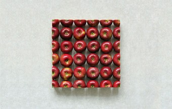 Fruits et légumes géométriques en photo
