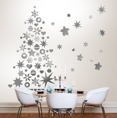 sapin de no l original sticker mural bento blog. Black Bedroom Furniture Sets. Home Design Ideas