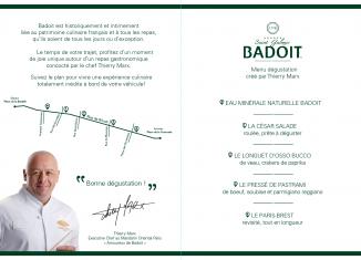 Fete gastronomie Thierry Marx Badoit